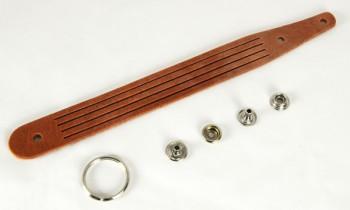 Braided Keychain Kit - Hermann Oak Harness Leather