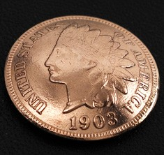 Old Indian Head Cent (Obverse) <Screw Back>
