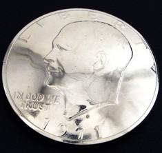 Old Eisenhower Dollar (Obverse) <Screw Back>
