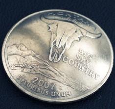 Montana State Quarter <Screw Back>