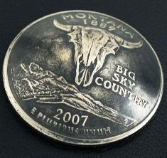 Montana State Quarter Matte Finish <Screw Back>
