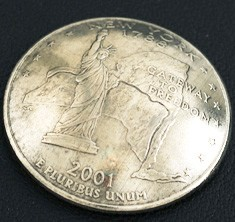 New York State Quarter <Screw Back>
