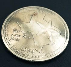 Texas State Quarter <Screw Back>