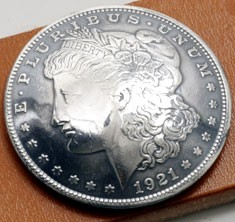 Morgan Dollar 1921 Matte Finish Type A (Obverse) XF/AU <Loop Back>