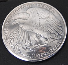 Old Walking Liberty Half Dollar Eagle Matte Finish <Screw Back>