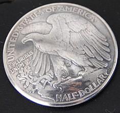 Old Walking Liberty Half Dollar Eagle Matte Finish <Loop Back>