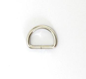 D Ring - 15 mm - Nickel