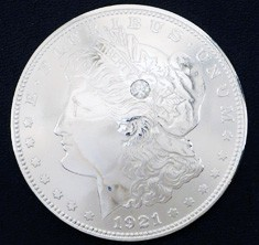 Old Morgan Dollar 1921 Diamond (1 stone)