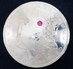 Old Morgan Dollar 1921 Ruby (1 stone)