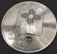 New Mexico State Quarter <Loop Back>