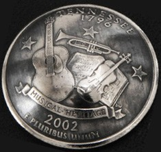 Tennessee State Quarter Matte Finish <Loop Back>