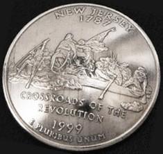 New Jersey State Quarter <Screw Back>