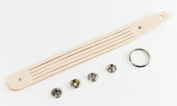 Braided Cell Phone Strap Kit - LC Tooling Leather Standard / Natural