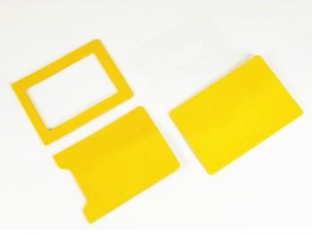 Pass Case Kit - LC Premium Dyed Leather Struck Through