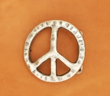 Peace Sign Trophy Buckle