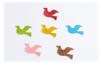 Pig Suede Charm ( Flying Bird  )