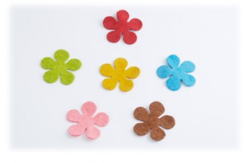 Pig Suede Charm ( Flower Small )(1 pc )