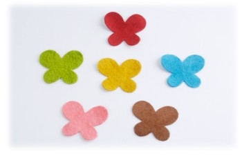 Pig Suede Charm ( Butterfly Small ) (5 pcs)