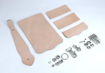 Key Case with Key Fob Kit - Tooling Leather Himeji
