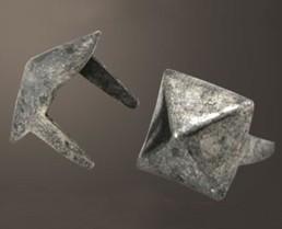 "Pyramid Spot - Relic Nickel <3/8"">(100 pcs)"