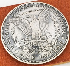 Morgan Dollar  1921 Matte Finish Type B (Reverse) XF/AU <Loop Back>
