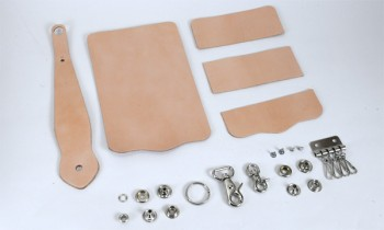 Key Case with Key Fob Kit - Leather Glazed Himeji