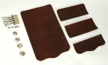 Key Case Kit - American Bison Leather