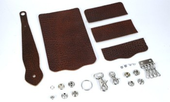 Key Case with Key Fob Kit - American Bison Leather