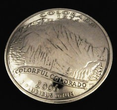 Colorado State Quarter <Screw Back>