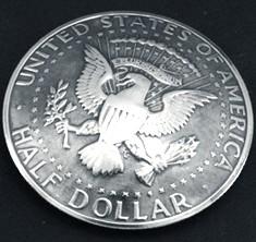 Old Kennedy Half Dollar 1971 Eagle Matte Finish <Loop Back>