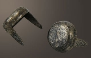 """Flat Head Spot - Relic Nickel <3/8"""">(30 pcs)"""