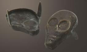 Skull Spot - Relic Brass <24mm>(10 pcs)