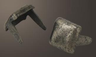 """Square Head Spot- Relic Nickel <1/4"""">"""