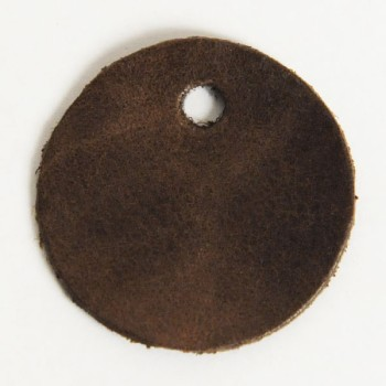Leather Tag (Round Shape L) - LC Mostro(5 pcs)