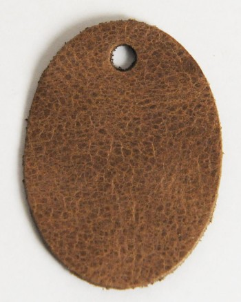 Leather Tag (Oval Shape) - LC Mostro(5 pcs)