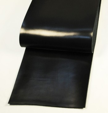 Leather cut in 30cm width, Leather Glazed Tochigi <Black>