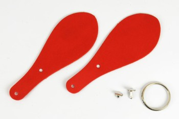 Shoehorn Keychain Kit - LC Premium Dyed Leather