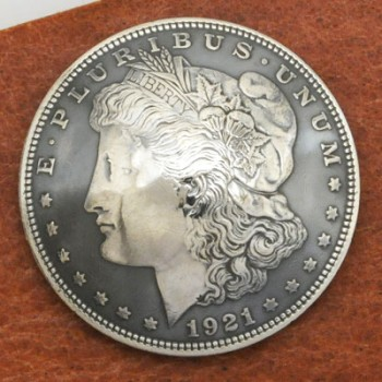 Morgan Dollar 1921 Matte Finish (Obverse) BU <Screw Back>