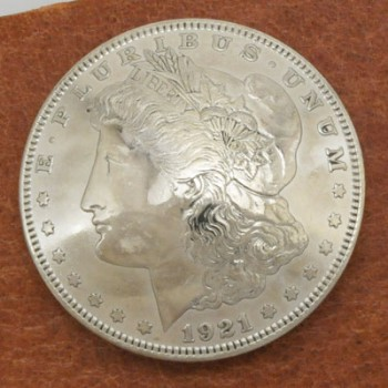 Morgan Dollar 1921  (Obverse) BU <Screw Back>