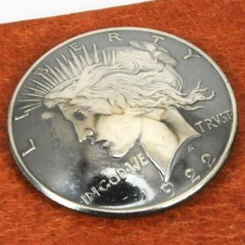 Silver Peace Dollar Matte Finish 1922 - 1927 Circulated (A) <Screw Back>