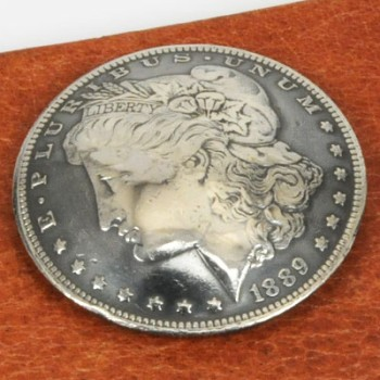 Morgan Dollar Matte Finish 1878 - 1901 Circulated (A) <Screw Back>