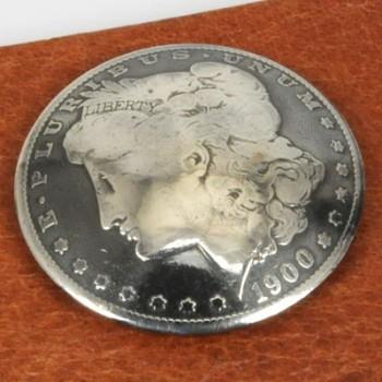Morgan Dollar Matte Finish 1878 - 1901 Circulated (B) <Screw Back>