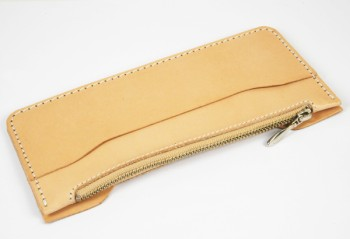 LC M Long Wallet Semi Assembled Inner Parts with Zipper  - Leather Glazed Himeji