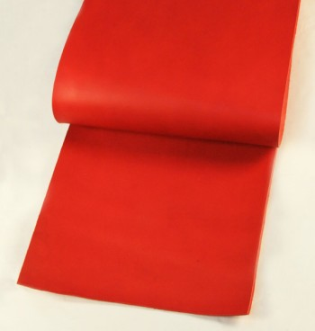 Leather cut in 30cm width, LC Premium Dyed Leather Struck Through <Red>