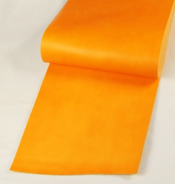 Leather  cut in 30cm width, LC Premium Dyed Leather Struck Through <Orange>