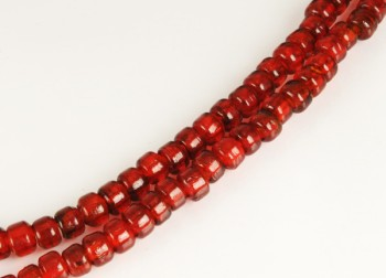 Crow Beads - Transparent Red Glass